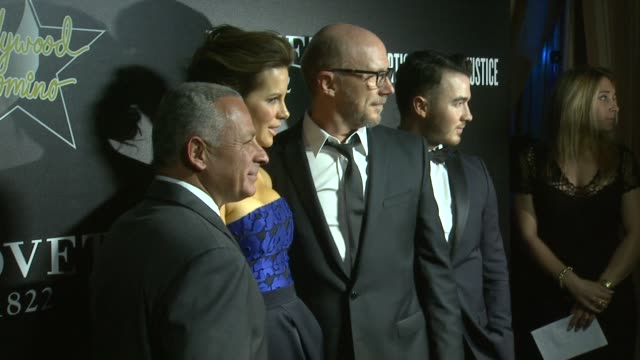 pascal raffy kate beckinsale kevin jonas and paul haggis at the 7th annual hollywood domino bovet 1822 gala benefiting artists for peace and justice... - paul haggis stock videos and b-roll footage