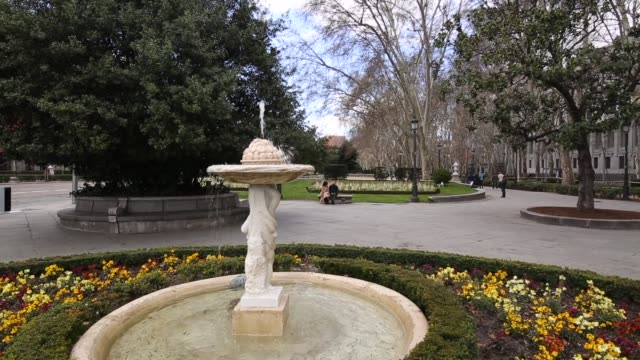 paseo del prado, madrid, spain, europe - paseo del prado madrid stock videos and b-roll footage