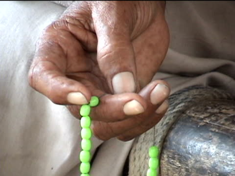 cu pashtun man's hand with prayer beads darrah in swat agency of tribal zones federally administered tribal areas pakistan audio - prayer beads stock videos & royalty-free footage