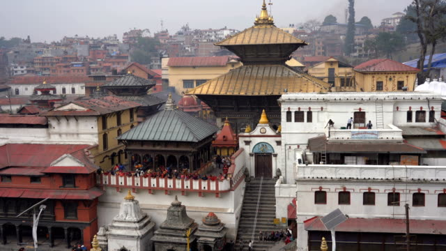 pashupatinath temple in kathmandu, nepal - ceremony stock videos & royalty-free footage