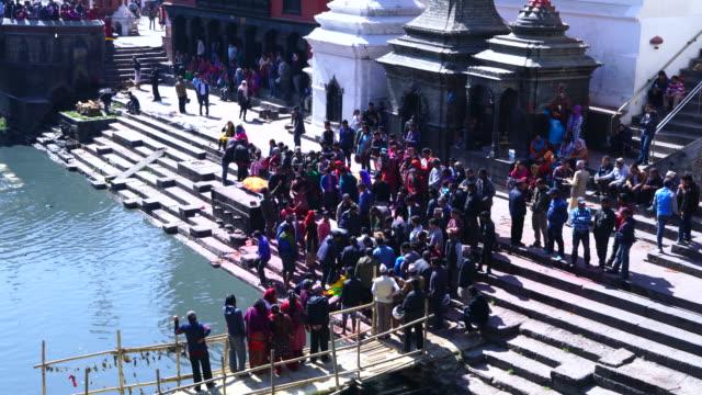 pashupatinath temple, katmandu, nepal, asia - kathmandu stock videos & royalty-free footage