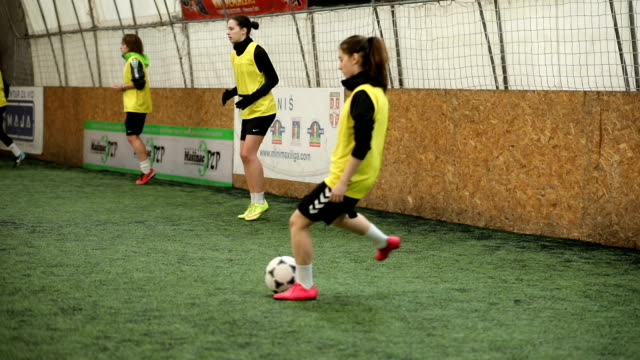 pass me the ball - indoor soccer stock videos & royalty-free footage