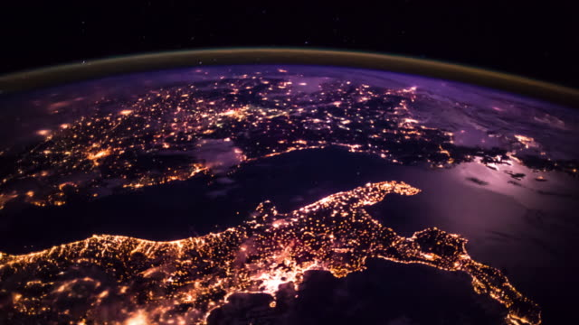 ISS Pass Over Western Europe and North Africa - Timelapse