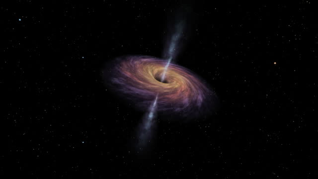 Passage into the wormhole of a black hole