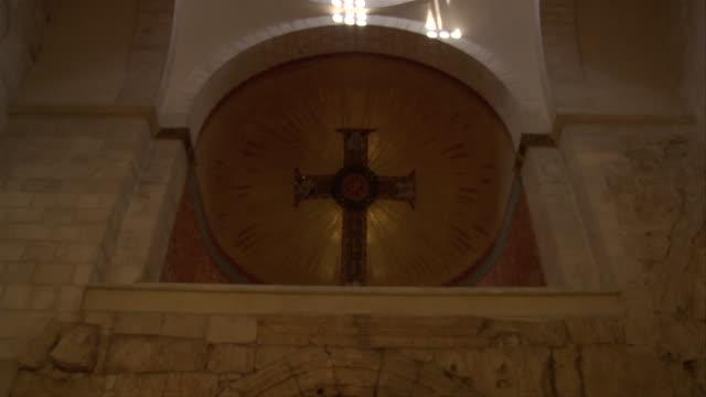 passageway in the ecce homo church - via dolorosa stock videos & royalty-free footage