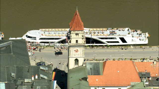 Passau  - Aerial View - Bavaria,  Lower Bavaria,  Kreisfreie Stadt Passau helicopter filming,  aerial video,  cineflex,  establishing shot,  Germany