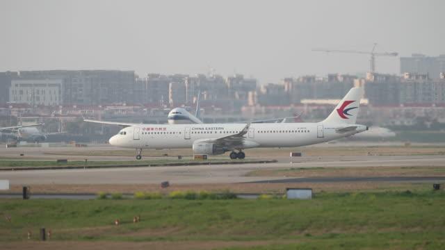 Passenger aircraft landing at airport