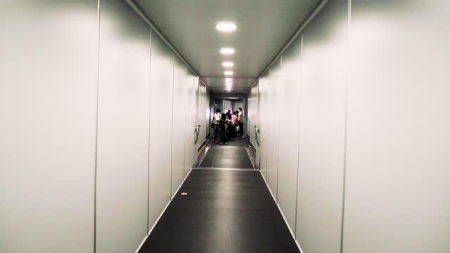 passenger boarding  jet bridge yogyakarta international airport - airport runway stock videos & royalty-free footage