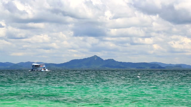 Passenger boat at Andaman sea Beach Trang Thailand