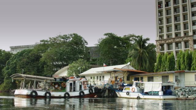 Passenger Boat Dock in Manila Residential Neighborhood