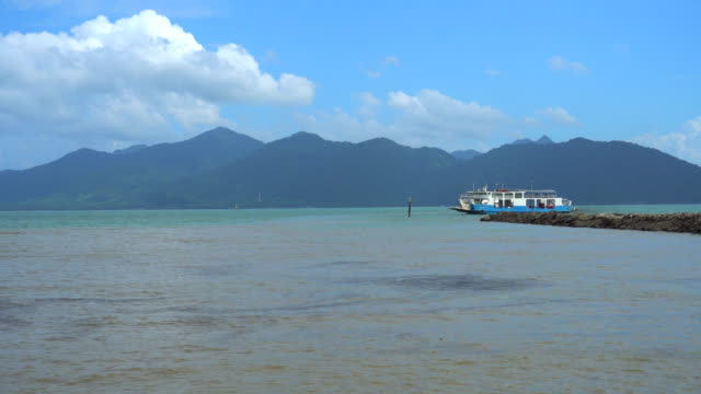 passenger boat to koh chang, trat province,thailand - trat province stock videos and b-roll footage