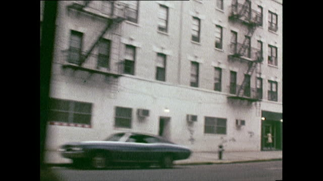passenger pov driving down new york street; 1972 - general view stock videos & royalty-free footage