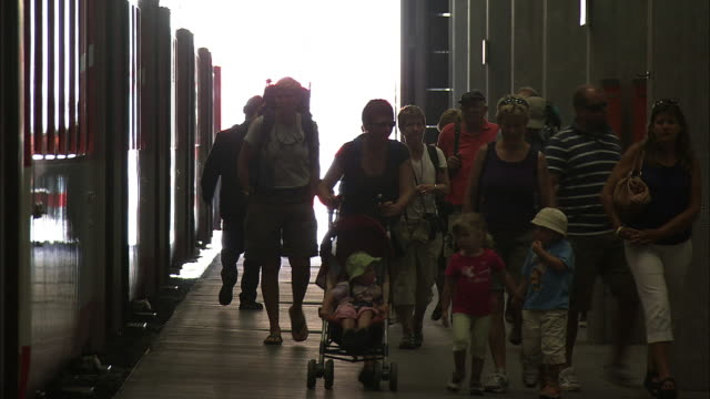 passenger families getting off at zermatt station - railway station stock videos & royalty-free footage