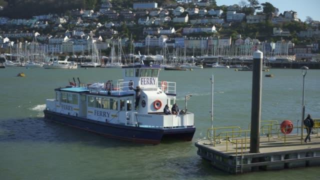 passenger ferry in dartmouth, devon - ferry stock videos & royalty-free footage
