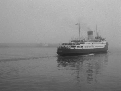 passenger ferry sails off from the port of dover. - ferry stock videos & royalty-free footage
