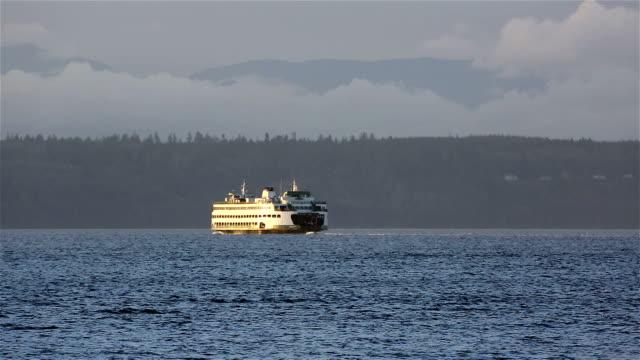 vídeos y material grabado en eventos de stock de ferry de pasajeros - estrecho de puget