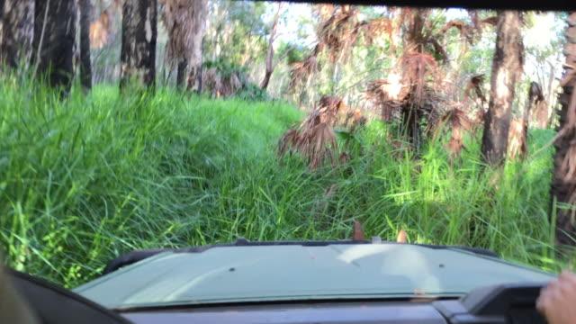 Passenger in 4 wheel drive in Australian Outback