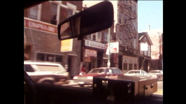 passenger pov in taxi of a chicago street; 1989 - car stock videos & royalty-free footage