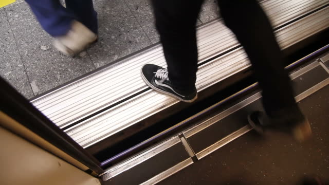 hd : passenger leaving from subway train - subway station stock videos & royalty-free footage