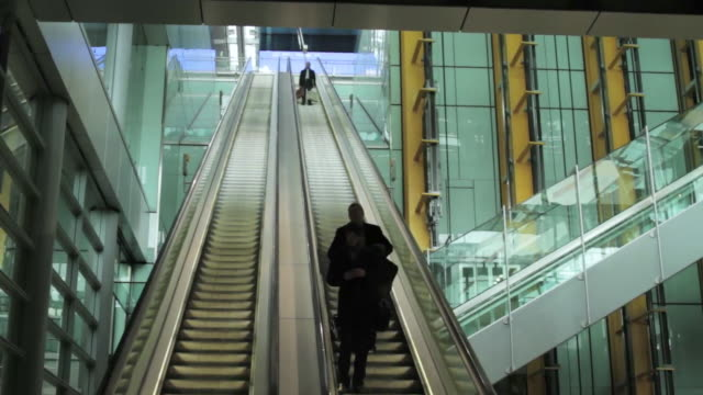 ms passenger moving with escalator and elevator / los angeles, california, united states - surveillance stock videos and b-roll footage