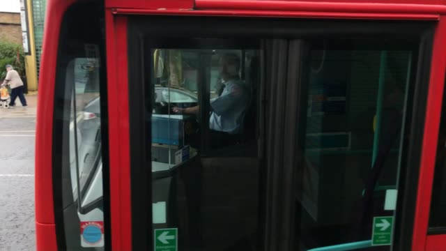 passenger numbers on london's buses fall by 6 per cent caroline pidgeon interview sot double decker bus along passengers standing on board bus... - cent sign stock videos & royalty-free footage