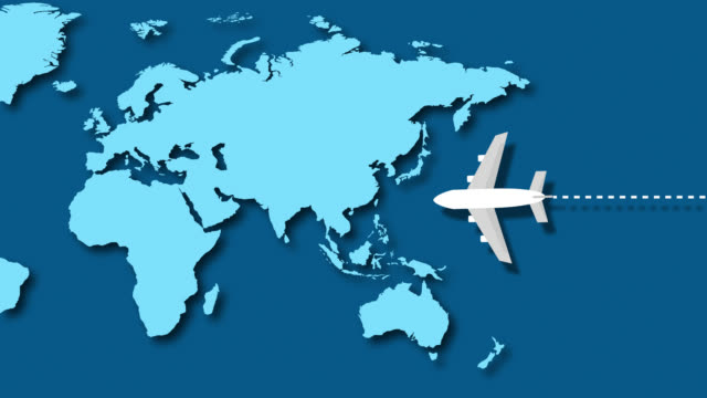 passenger plane flying over world map - map pin icon stock videos and b-roll footage