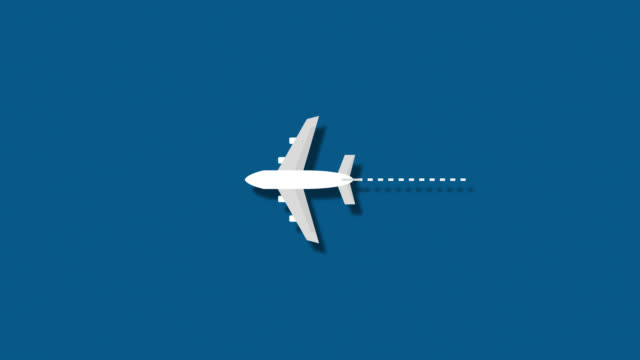 passenger plane flying through the frame - alpha channel stock videos and b-roll footage