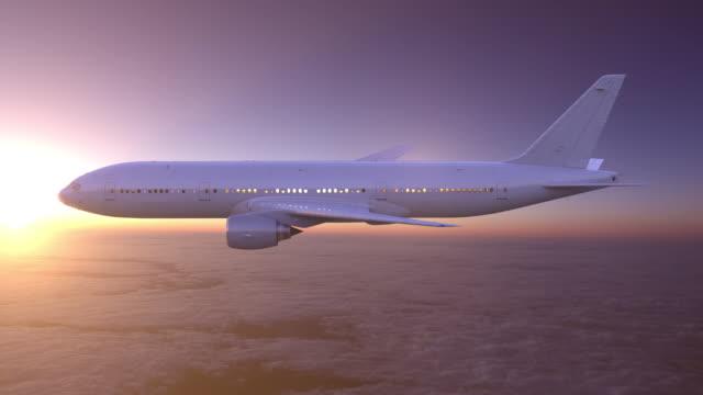 Passenger plane inflight
