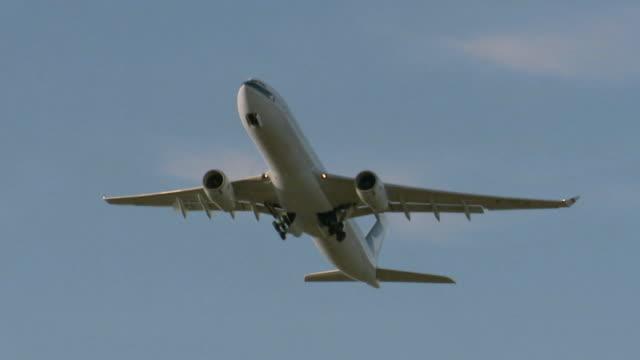 la ms passenger plane taking off/ sydney, australia - air vehicle stock videos & royalty-free footage
