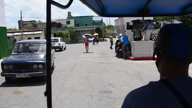 passenger point of view from a 'motoneta' transportation vehicle seen on may 14, 2013; in santa clara, villa clara, cuba. ' motonetas' are a term... - tricycle stock videos & royalty-free footage