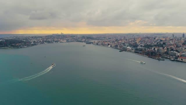 passenger ship aerial flyover - byakkaya stock videos and b-roll footage