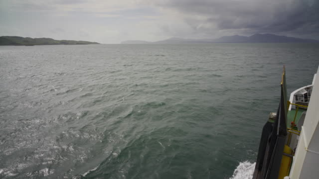 stockvideo's en b-roll-footage met a passenger ship heading towards the island of mull, scotland - mull