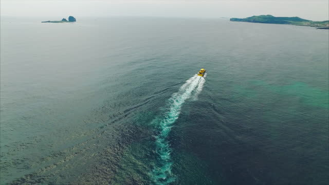 Passenger ship sailing on the sea