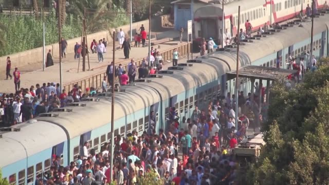 A passenger train derailed on July 13 2018 on a railway track south of Cairo wounding at least 55 people Three carriages on a train headed to the...