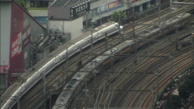 WS HA Passenger trains near train station / Tokyo, Tokyo Prefecture, Japan