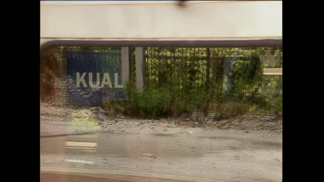 cu passenger trains passing by camera in malaysia; 1996 - 1996 stock videos & royalty-free footage