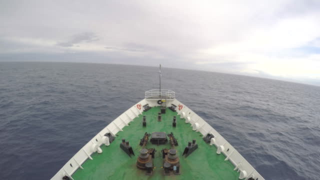 passenger vessel bow crossing the drake passage - drake passage stock videos and b-roll footage