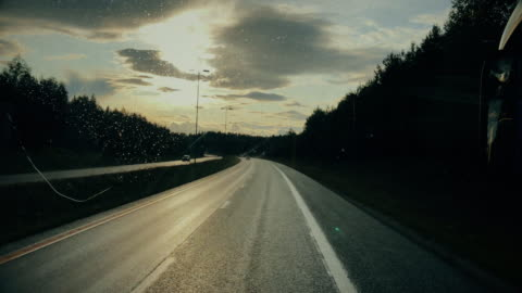 passenger view from a traveling bus - vehicle interior stock videos & royalty-free footage