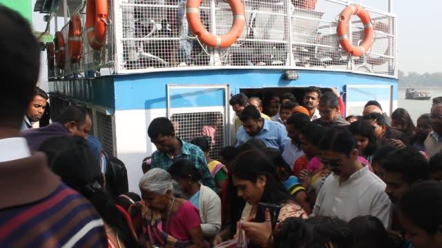 Passengers arrived at Umananda port