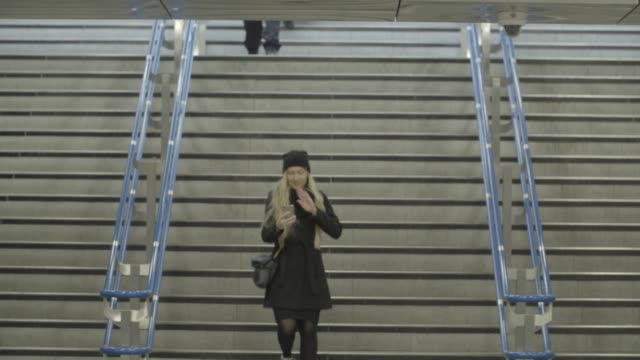 passengers ascend and descend the stairs at victoria underground tube station in london united kingdom on friday november 10 2017 - moving up stock videos & royalty-free footage