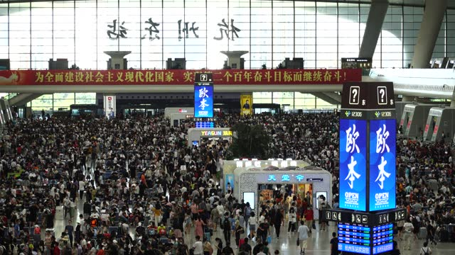 passengers at hangzhou east railway station after the covid-19 pandemic - abstract stock videos & royalty-free footage