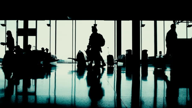 passengers at the terminal airport - gate stock videos & royalty-free footage