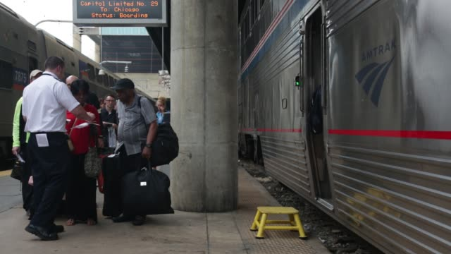 Passengers board their train at Union Station Washington DC May 26 2015