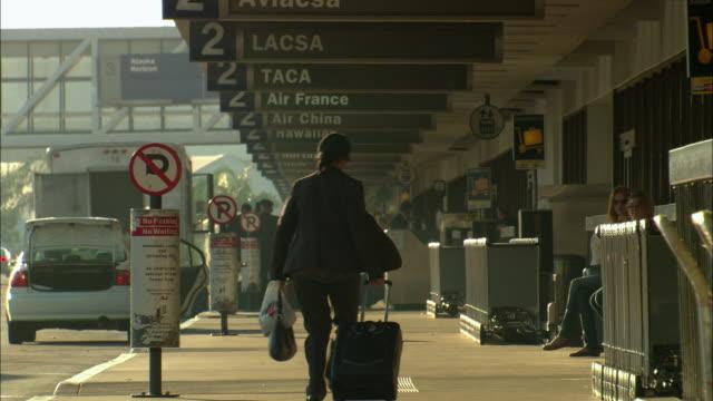 MS, Passengers on LAX Airport, Los Angeles, California, USA