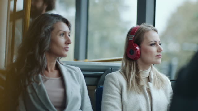 passengers on the bus - on the move stock videos & royalty-free footage