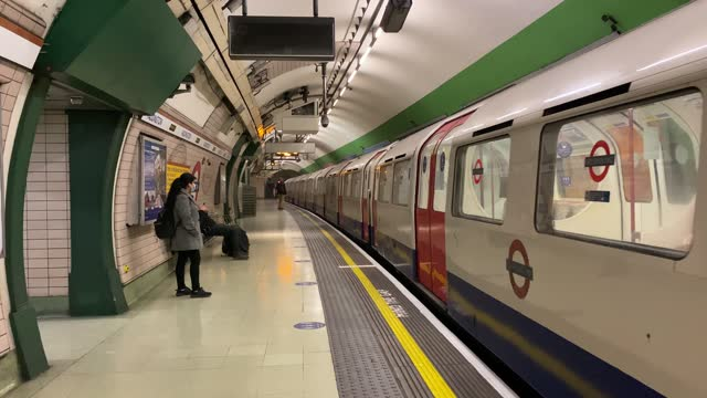 passengers wait on a near empty train platform at paddington station during what would traditionally be peak times on january 11, 2021 in london,... - land vehicle stock videos & royalty-free footage