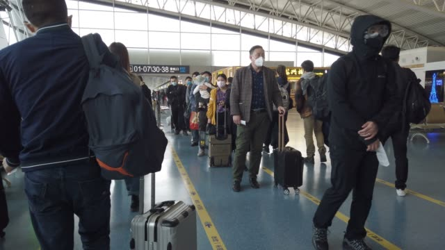 passengers waiting for boarding at airport. - getting on stock videos & royalty-free footage