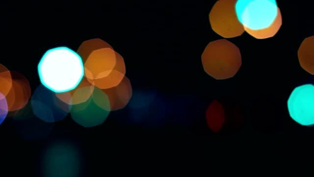 Passing Cars, Lights, City at Night