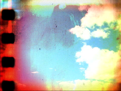 Passing Clouds on Damaged Film