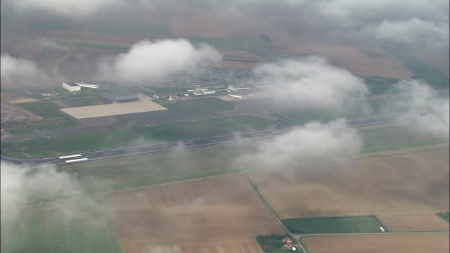 passing high over metz-nancy-lorraine airport - aerial view - lorraine, moselle, arrondissement of metz-campagne, france - lorraine stock videos & royalty-free footage
